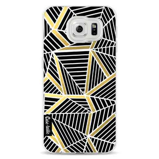 Casetastic Softcover Samsung Galaxy S6 - Abstraction Lines Black Gold