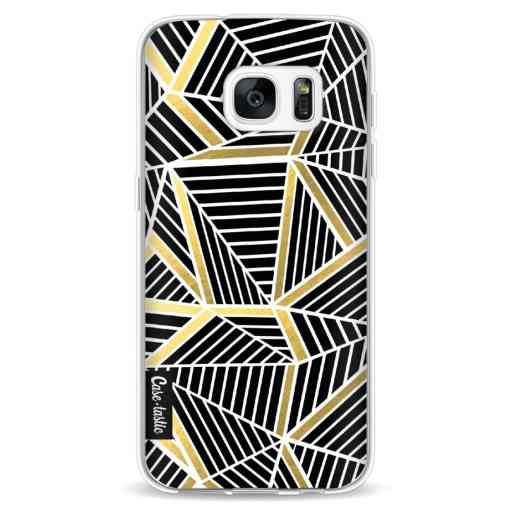 Casetastic Softcover Samsung Galaxy S7 - Abstraction Lines Black Gold