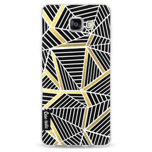 Casetastic Softcover Samsung Galaxy A5 (2016) - Abstraction Lines Black Gold