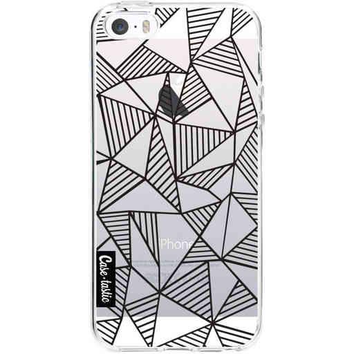 Casetastic Softcover Apple iPhone 5 / 5s / SE - Abstraction Lines Black Transparent