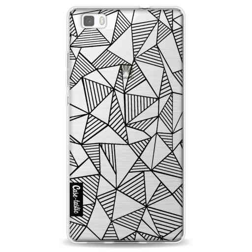 Casetastic Softcover Huawei P8 Lite (2015) - Abstraction Lines Black Transparent