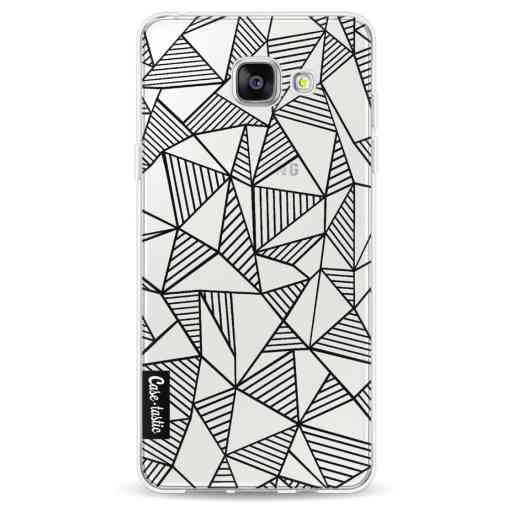 Casetastic Softcover Samsung Galaxy A5 (2016) - Abstraction Lines Black Transparent