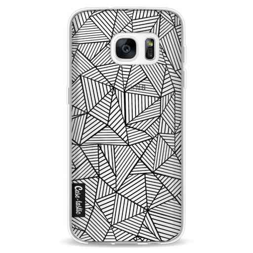 Casetastic Softcover Samsung Galaxy S7 - Abstraction Lines Transparent