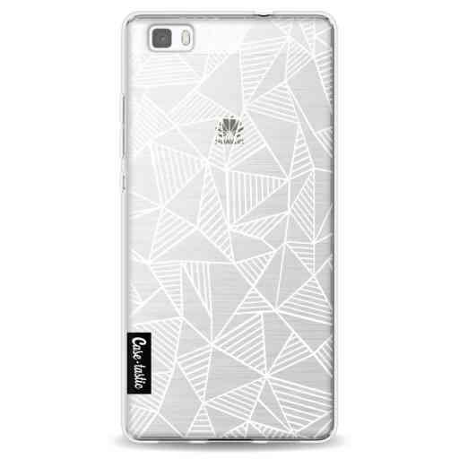 Casetastic Softcover Huawei P8 Lite - Abstraction Lines White Transparent