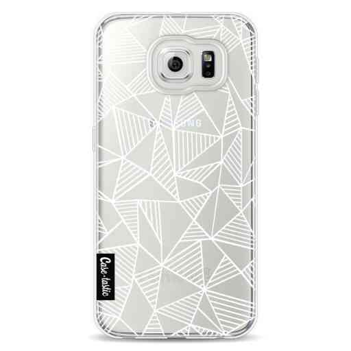 Casetastic Softcover Samsung Galaxy S6 - Abstraction Lines White Transparent