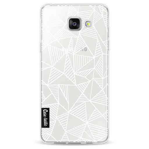 Casetastic Softcover Samsung Galaxy A5 (2016) - Abstraction Lines White Transparent
