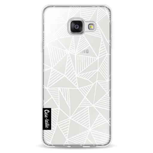 Casetastic Softcover Samsung Galaxy A3 (2016) - Abstraction Lines White Transparent