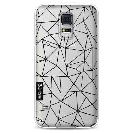 Casetastic Softcover Samsung Galaxy S5 - Abstraction Outline Black Transparent