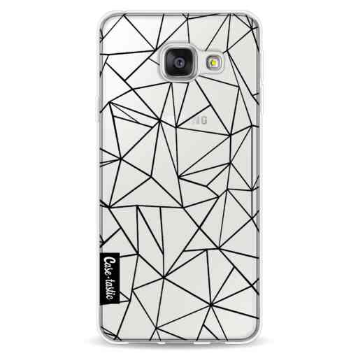 Casetastic Softcover Samsung Galaxy A3 (2016) - Abstraction Outline Black Transparent