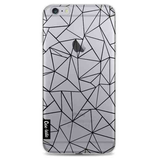 Casetastic Softcover Apple iPhone 6 Plus / 6s Plus - Abstraction Outline Black Transparent