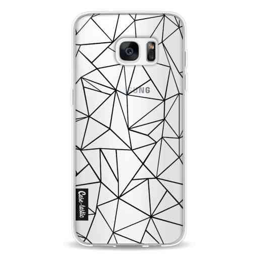 Casetastic Softcover Samsung Galaxy S7 Edge - Abstraction Outline Black Transparent
