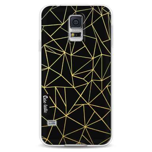 Casetastic Softcover Samsung Galaxy S5 - Abstraction Outline Gold