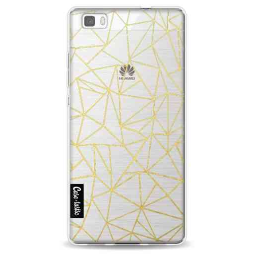 Casetastic Softcover Huawei P8 Lite (2015) - Abstraction Outline Gold Transparent