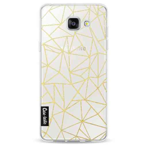 Casetastic Softcover Samsung Galaxy A5 (2016) - Abstraction Outline Gold Transparent