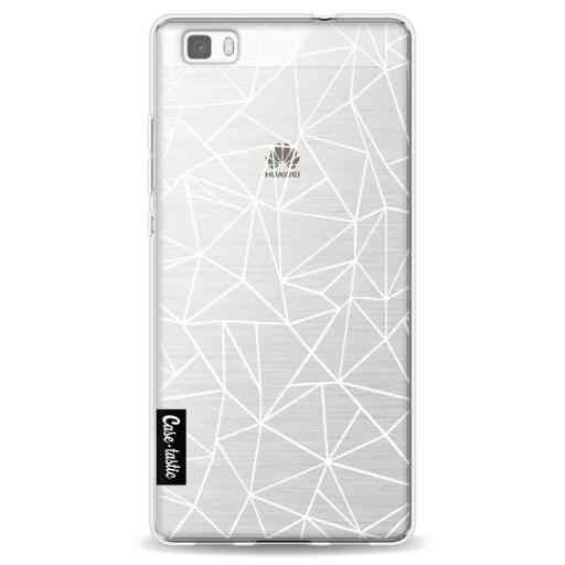 Casetastic Softcover Huawei P8 Lite - Abstraction Outline White Transparent