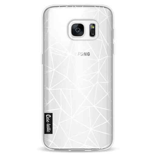 Casetastic Softcover Samsung Galaxy S7 - Abstraction Outline White Transparent