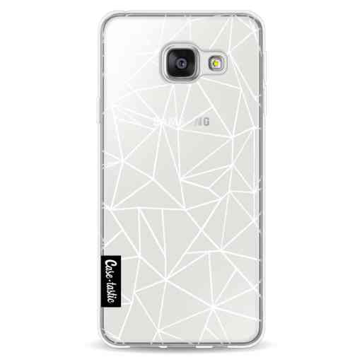 Casetastic Softcover Samsung Galaxy A3 (2016) - Abstraction Outline White Transparent