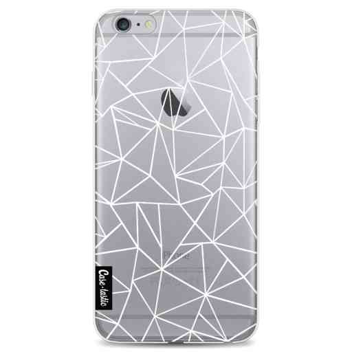 Casetastic Softcover Apple iPhone 6 Plus / 6s Plus - Abstraction Outline White Transparent