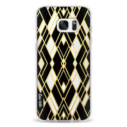 Casetastic Softcover Samsung Galaxy S7 Edge - Art Deco Gold Black Transparent
