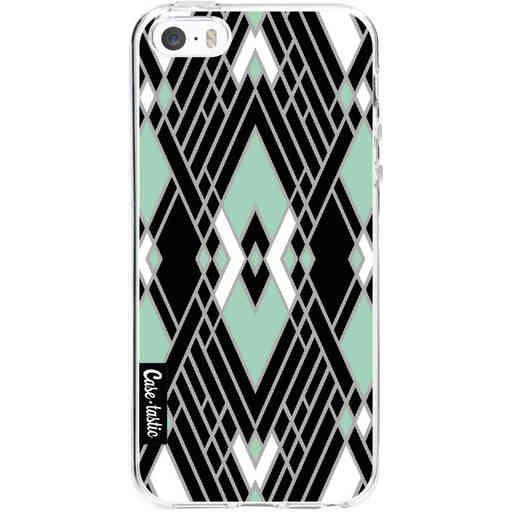 Casetastic Softcover Apple iPhone 5 / 5s / SE - Art Deco Mint