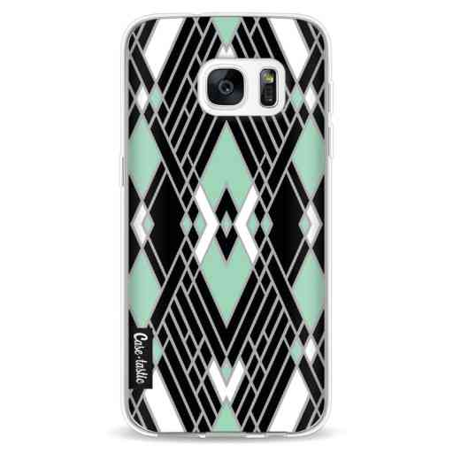 Casetastic Softcover Samsung Galaxy S7 - Art Deco Mint