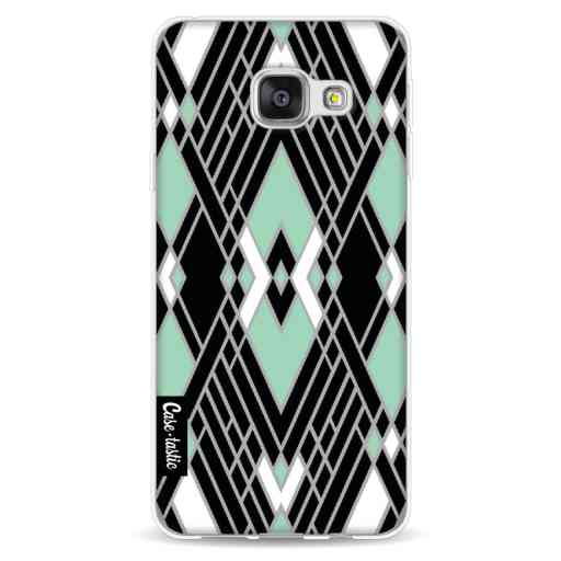 Casetastic Softcover Samsung Galaxy A3 (2016) - Art Deco Mint