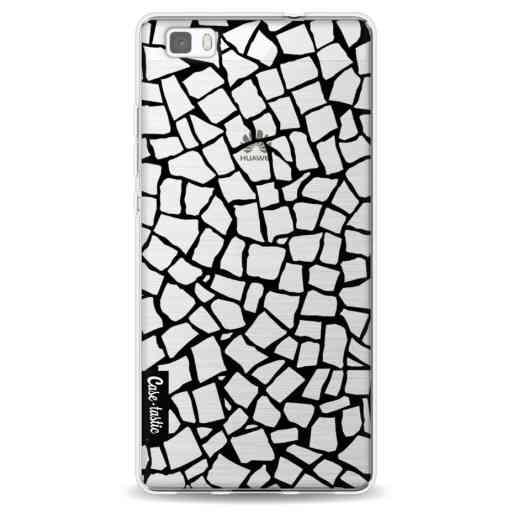 Casetastic Softcover Huawei P8 Lite - British Mosaic Black Transparent