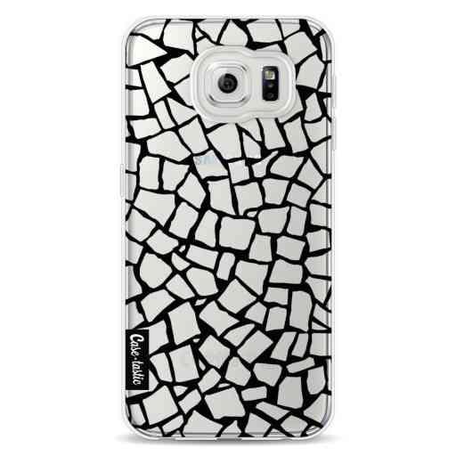 Casetastic Softcover Samsung Galaxy S6 - British Mosaic Black Transparent