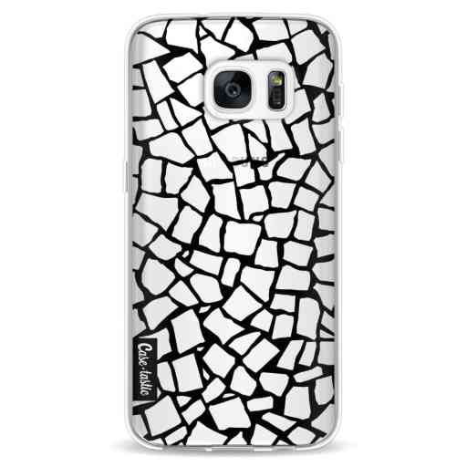 Casetastic Softcover Samsung Galaxy S7 - British Mosaic Black Transparent