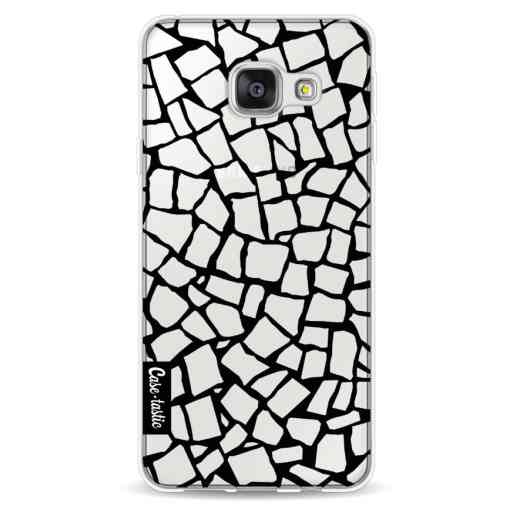 Casetastic Softcover Samsung Galaxy A3 (2016) - British Mosaic Black Transparent