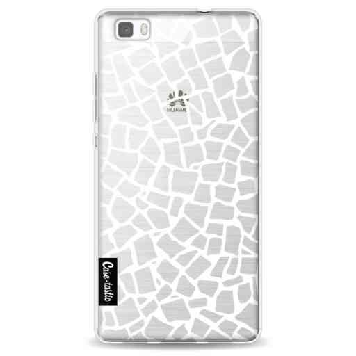 Casetastic Softcover Huawei P8 Lite - British Mosaic White Transparent