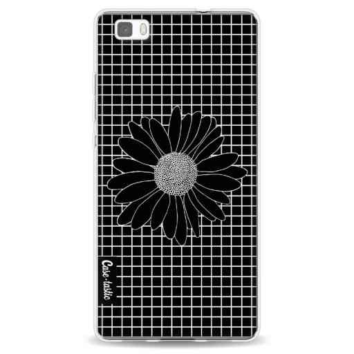 Casetastic Softcover Huawei P8 Lite - Daisy Grid Black