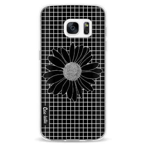Casetastic Softcover Samsung Galaxy S7 - Daisy Grid Black