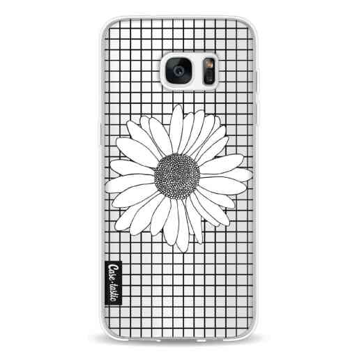 Casetastic Softcover Samsung Galaxy S7 Edge - Daisy Grid Transparent