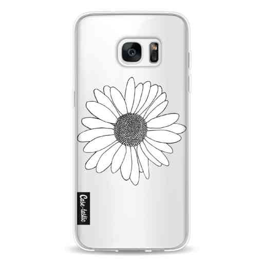 Casetastic Softcover Samsung Galaxy S7 Edge - Daisy Transparent