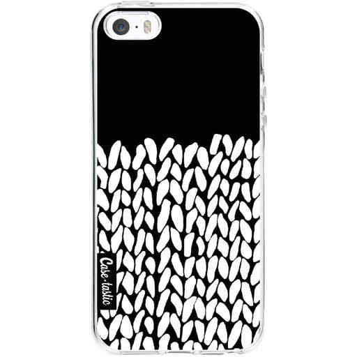 Casetastic Softcover Apple iPhone 5 / 5s / SE - Half Knit Black