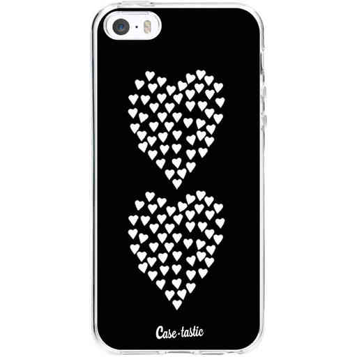 Casetastic Softcover Apple iPhone 5 / 5s / SE - Hearts Heart 2 Black