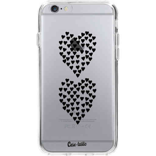 Casetastic Softcover Apple iPhone 6 / 6s  - Hearts Heart 2 Black Transparent