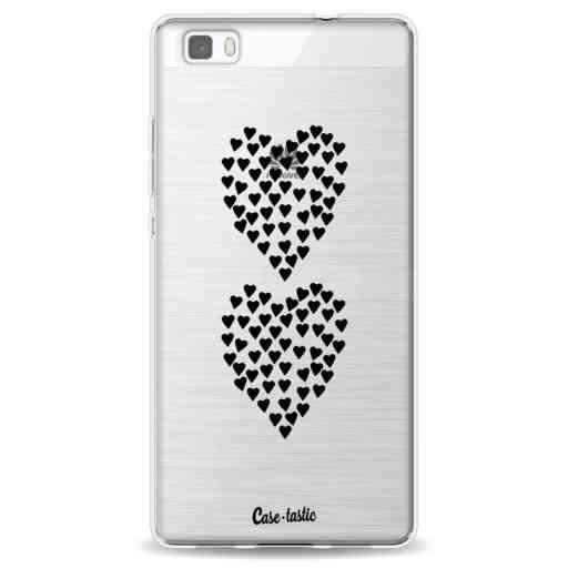 Casetastic Softcover Huawei P8 Lite - Hearts Heart 2 Black Transparent