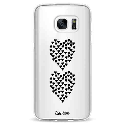 Casetastic Softcover Samsung Galaxy S7 - Hearts Heart 2 Black Transparent
