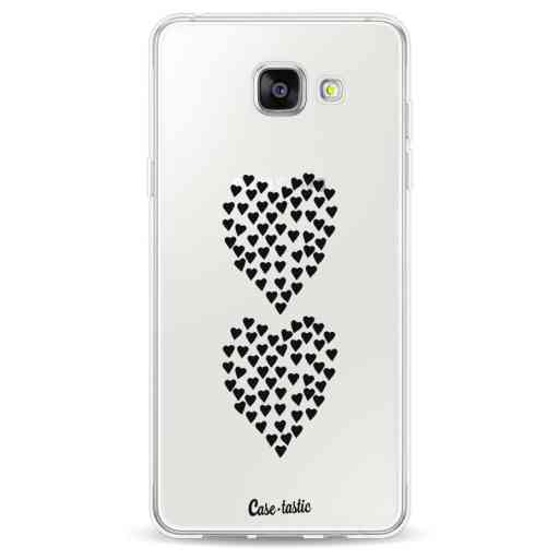 Casetastic Softcover Samsung Galaxy A5 (2016) - Hearts Heart 2 Black Transparent