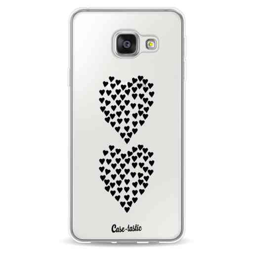 Casetastic Softcover Samsung Galaxy A3 (2016) - Hearts Heart 2 Black Transparent