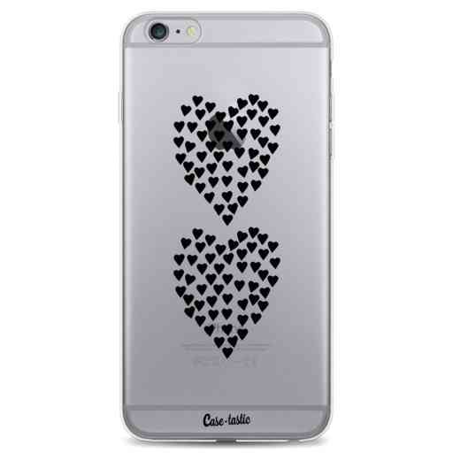 Casetastic Softcover Apple iPhone 6 Plus / 6s Plus - Hearts Heart 2 Black Transparent