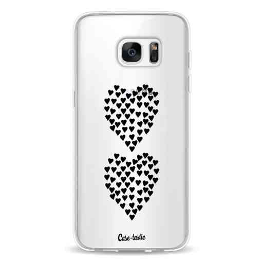Casetastic Softcover Samsung Galaxy S7 Edge - Hearts Heart 2 Black Transparent