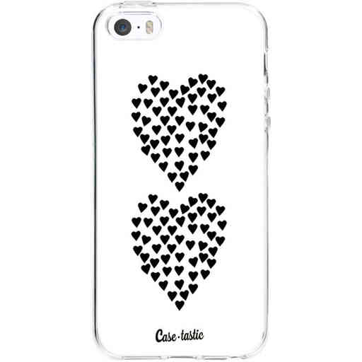 Casetastic Softcover Apple iPhone 5 / 5s / SE - Hearts Heart 2 White