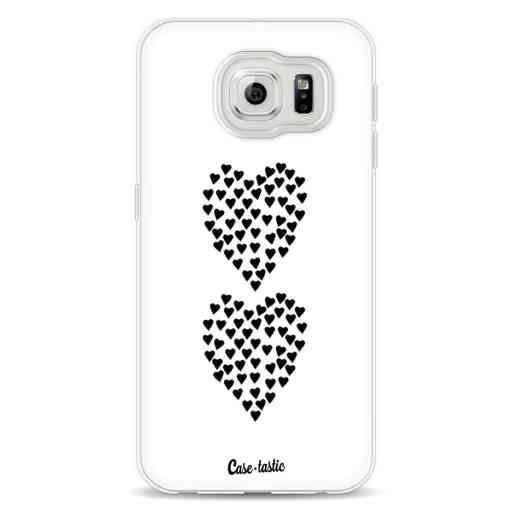 Casetastic Softcover Samsung Galaxy S6 - Hearts Heart 2 White