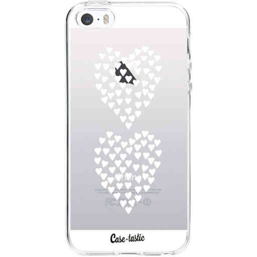 Casetastic Softcover Apple iPhone 5 / 5s / SE - Hearts Heart 2 White Transparent