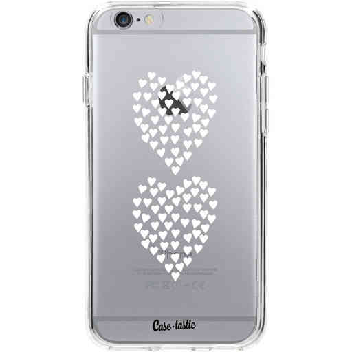 Casetastic Softcover Apple iPhone 6 / 6s  - Hearts Heart 2 White Transparent