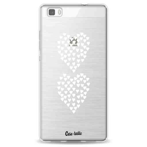Casetastic Softcover Huawei P8 Lite - Hearts Heart 2 White Transparent