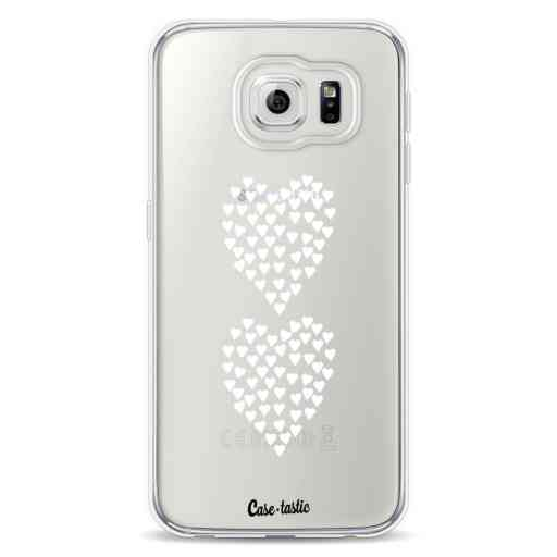 Casetastic Softcover Samsung Galaxy S6 - Hearts Heart 2 White Transparent